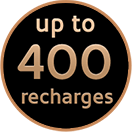 Up to 400 recharges
