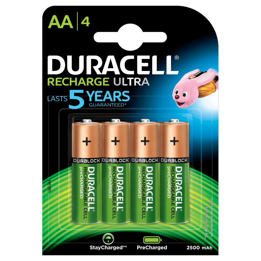 Duracell Rechargeable batteries and chargers